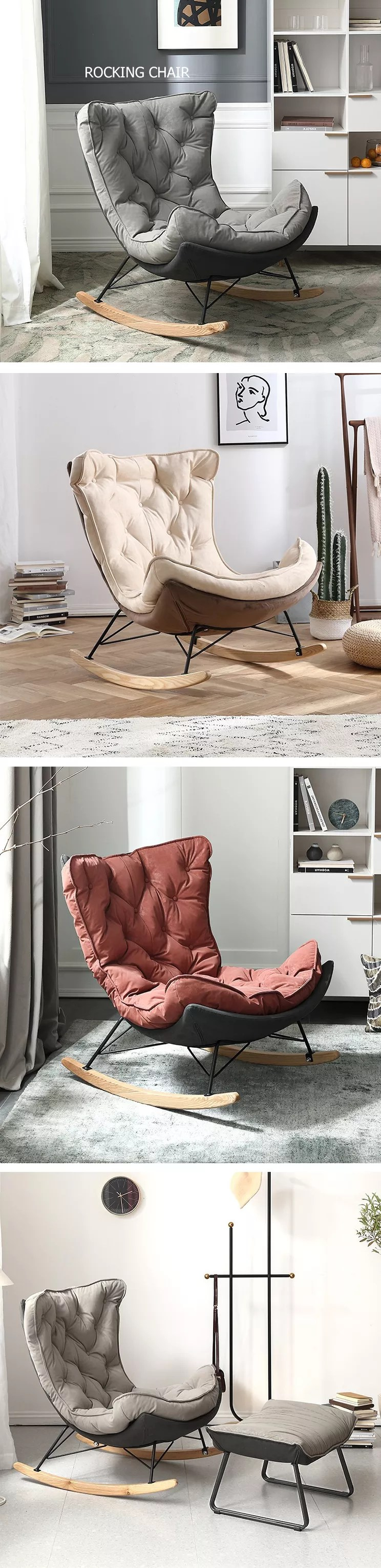patio furniture adult cushion zero gravity metal frame footrest arm sofa relax wood base rocking recliner chair for living room buy rocking recliner