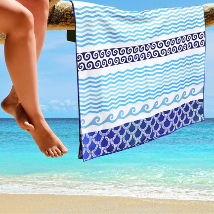 Sublimation polyester sandfree fashion custom beach towel wholesale