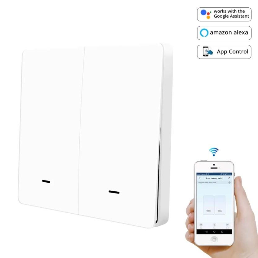 Zigbee Wifi Smart Wireless Led Push Button Switch works with Alexa