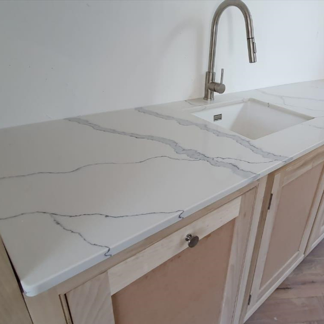 one piece kitchen sink and countertop pre cut quartz stone marble top table buy quartz kitchen table stone benchtops vanity worktop marble