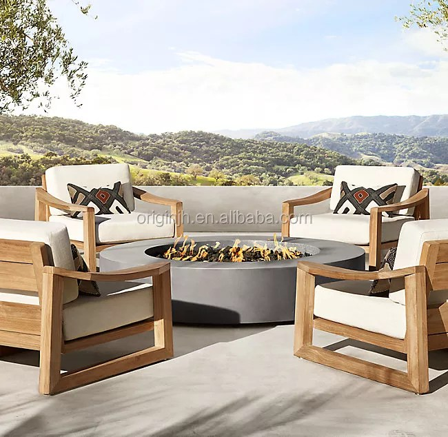 hot sale country style garden patio luxury solid wood lounge single sofa outdoor furniture burma teak wood buy burma teak wood teak outdoor