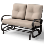 Outdoor Glider Rocker W Cushion Patio Garden Swing Rocking Chairs Buy Patio Swing Chair Garden Rocking Chairs 2 Lover Seats Outdoor Furniture Product On Alibaba Com