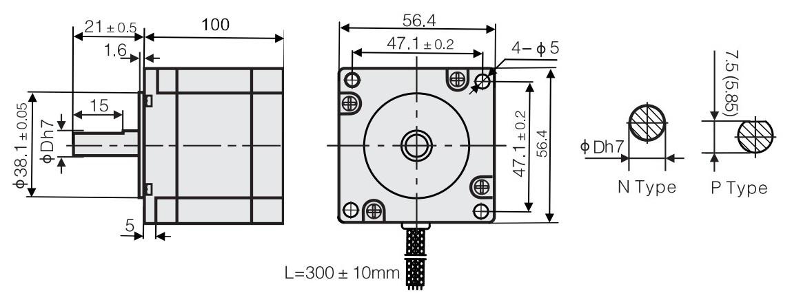 Schrittmotor 3,0 Nm Bipolar Für 3d Drucker Nema 23 4