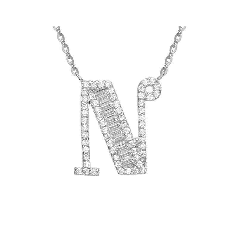 Ymnecklace-01068 Xuping Jewelry Fashion Letter N Necklace