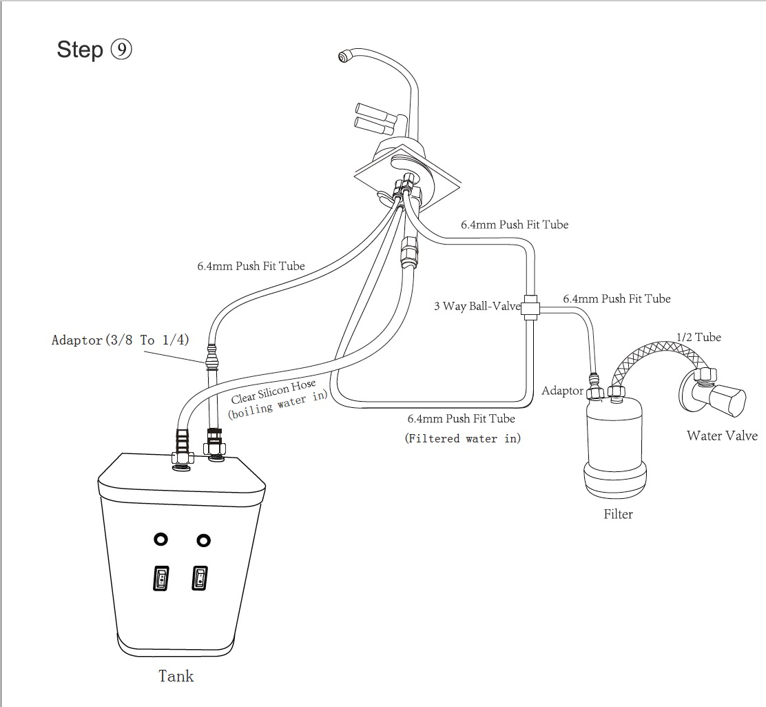 Instant Boiling Water Tap Filter And Heater Tank 98