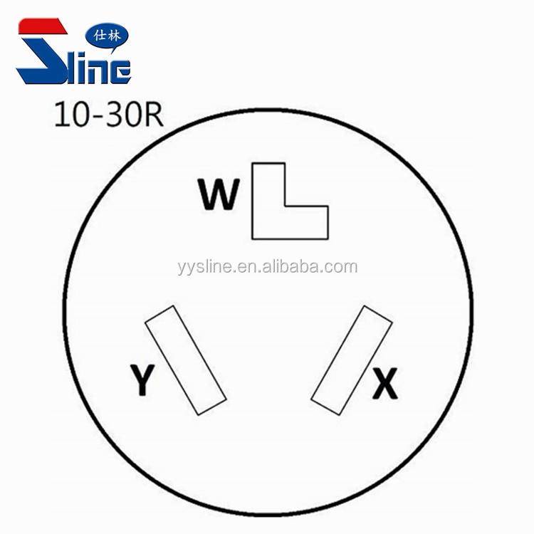 Dryer Adapter Cord Nema 14-30p Male 4 Prong Plug To 10-30r