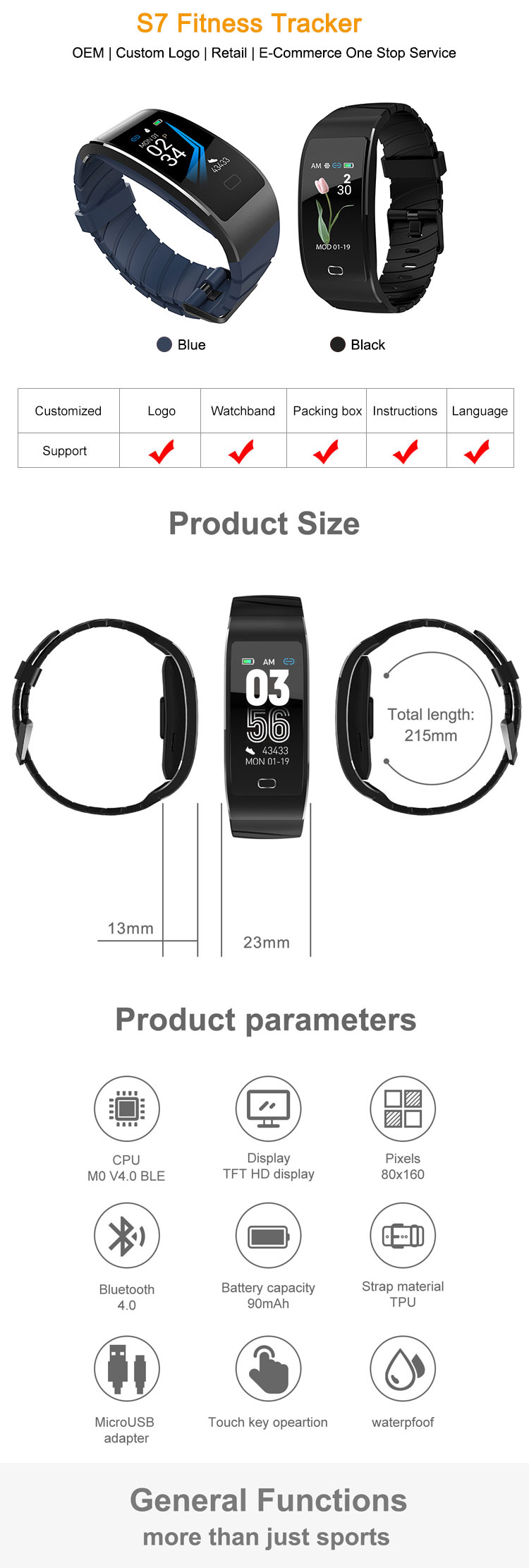 New Sport Fitness Band Tracker Watch Gps Heart Rate