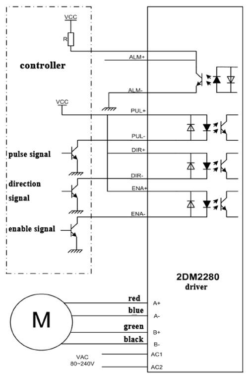 2dm2280 Ac 220v 8.2a 32 Step Subdivision Nema 42 Stepper