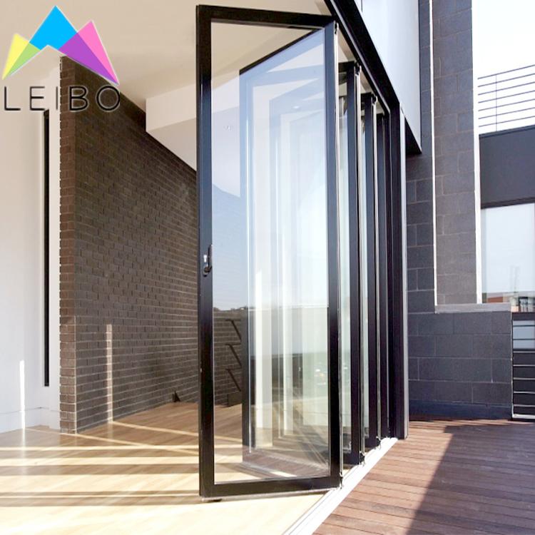 sistema de puerta plegable de aluminio para exterior puerta de doble acristalamiento para patio o casa con recubrimiento en polvo buy exterior