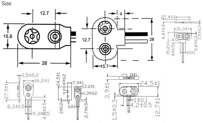Good Quality Battery Connector For Hp Ul Ce Rohs 134 Kls