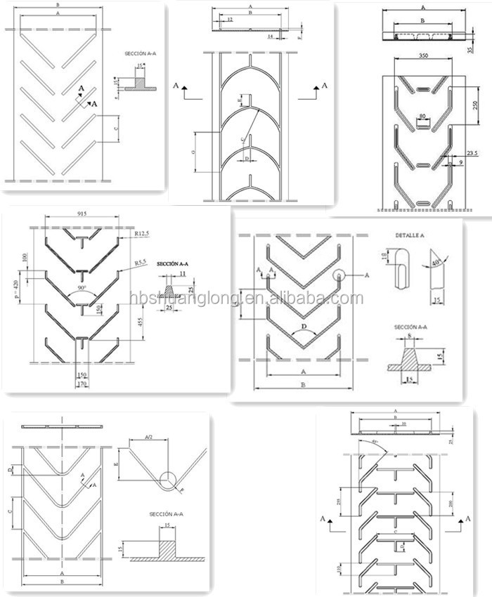 Closed V Chevron Pattern Milling Machines Used Rubber