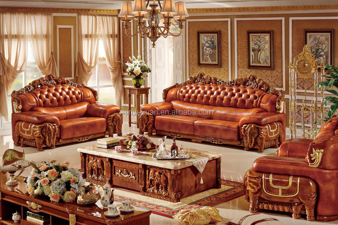 leather living room furniture sets white yellow and turquoise european sofa with coffee table w320c