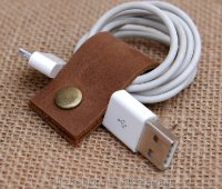 Leather Cord Wrap Handmade Leather Usb/earphone Cord Wrap ...