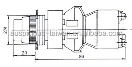 22mm,25mm,30mm Transformer Type Round Head Illuminated