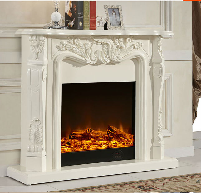 Ivory White Antique Decor Flame Electric Fireplace And Mantel  Buy Fireplace MantelAntique