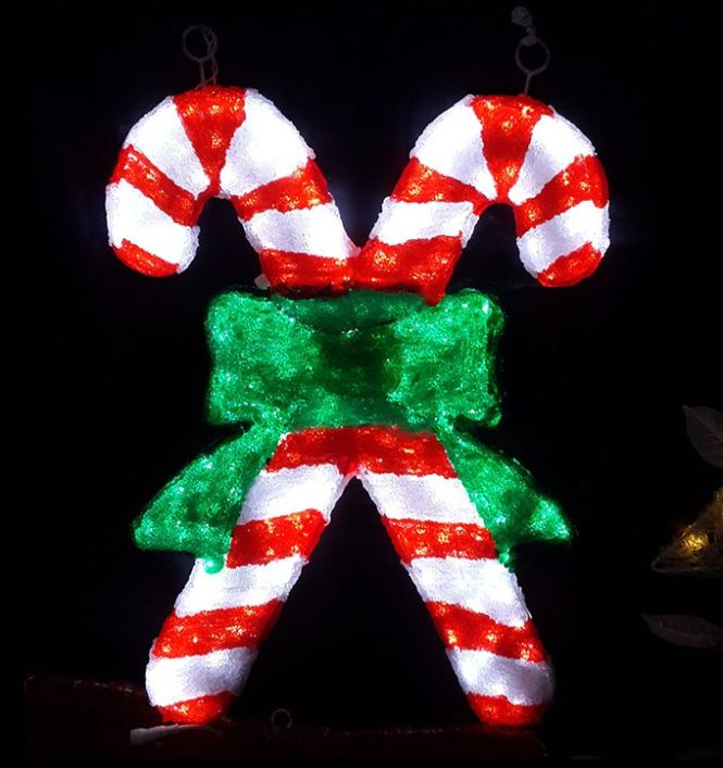 Candy Cane Plastic Outdoor Decortations Lawn Decoration