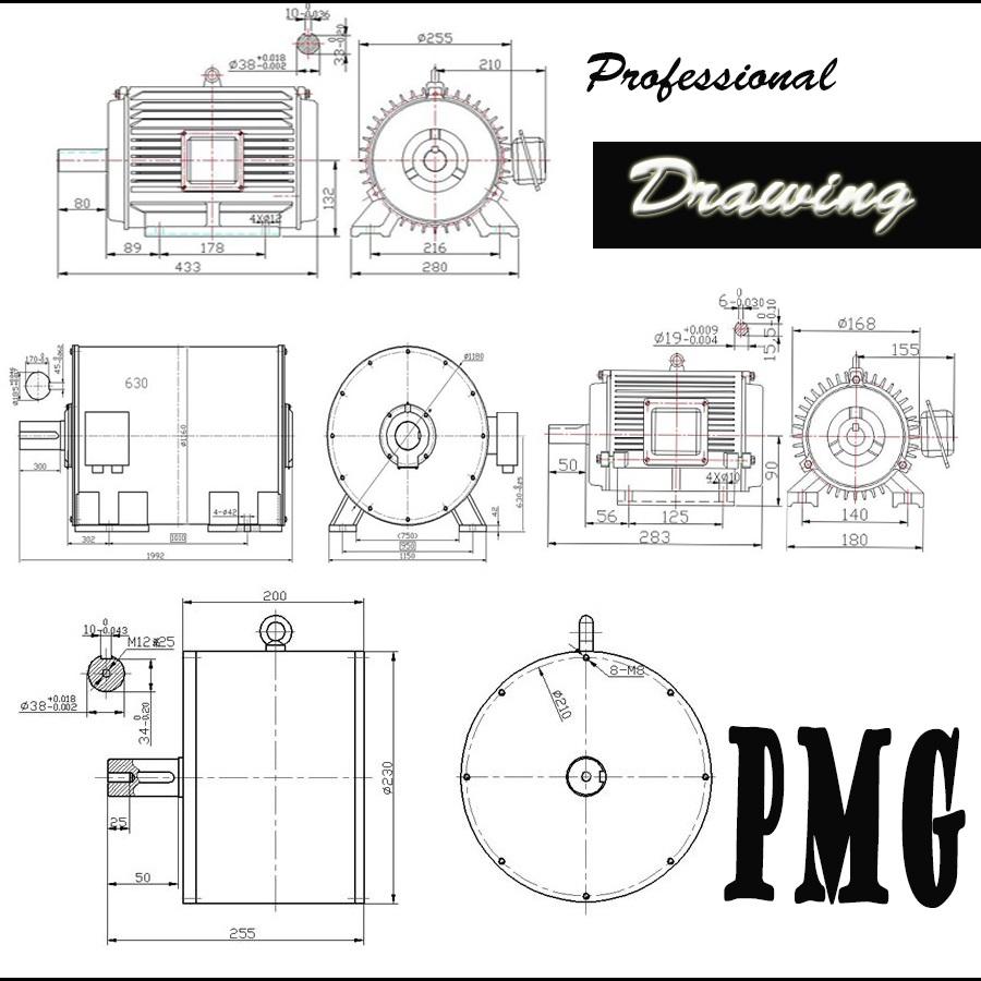 Hot! 120v 240v 380vac 10kw 100kw Permanent Magnet Motor