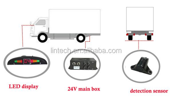 4pcs Sensors Detection Distance 0.5m ~ 3m Led Buzzer Front