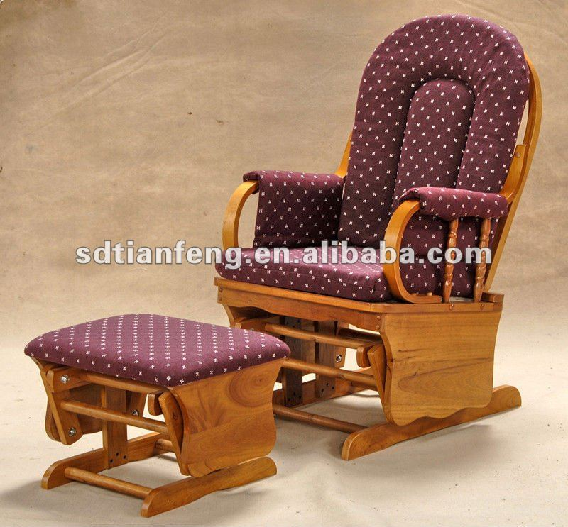 Economical Cheap Antique Wooden Glider Rocker And Ottoman