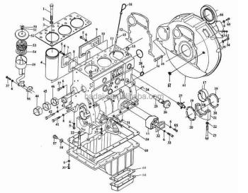Jinma Tractor Yangdong Y380 Diesel Engine Parts & Jinma