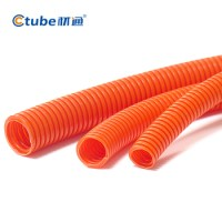 Orange Grey Pvc Flexible Pipe Corrugated Pipe Hose 25mm ...