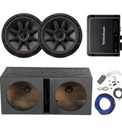 get quotations 2x kicker 12 800 watt 4 ohm car audio subwoofer and qpower qbomb12v 12 [ 1500 x 1500 Pixel ]