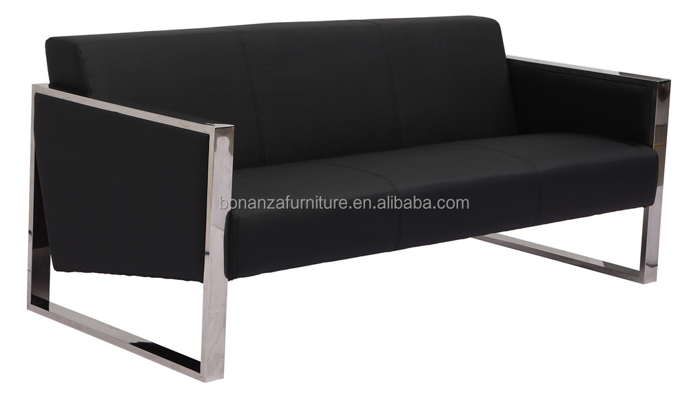 steel frame sofa buy new cushion covers modern design leather with metal 823