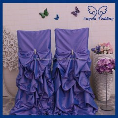 Wedding Chair Covers Lilac Mat Ch003k Wholesale Fancy Polyester Universal Ruffled Light Purple Gathered Cover