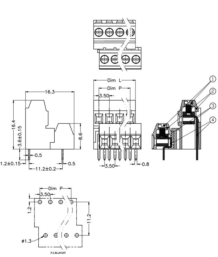 3.50/3.81/3.96mm pitch double level screw terminal blocks