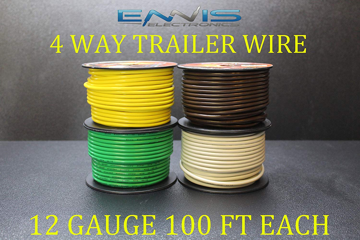 hight resolution of get quotations 12 gauge trailer light wire 400 ft ennis electronics 4 way trailer light 100 ft spools
