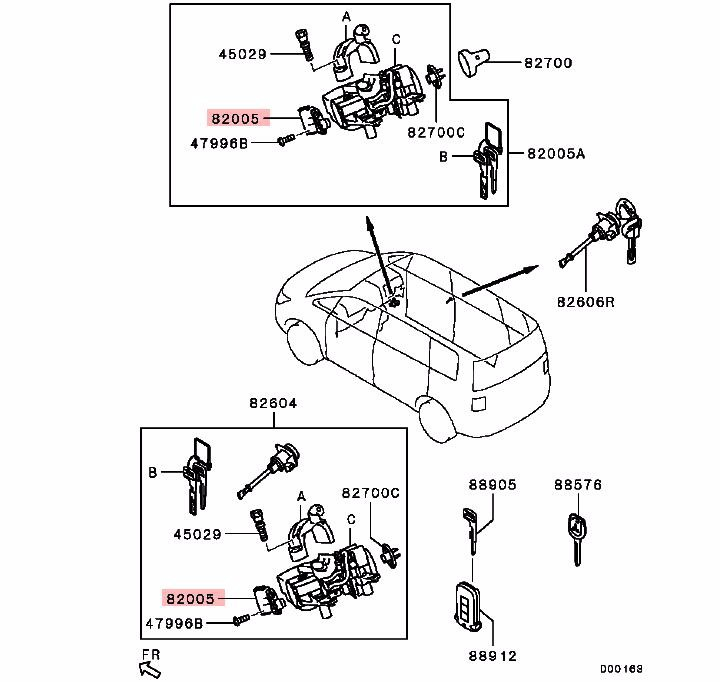 Engine Starting Switch For Mitsubishi Pajero Io H66 H76