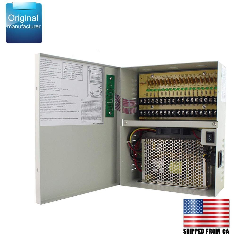 medium resolution of get quotations centropower ul listed 18 channel port 12v dc 20 amp amper with ptc fuse distributed power