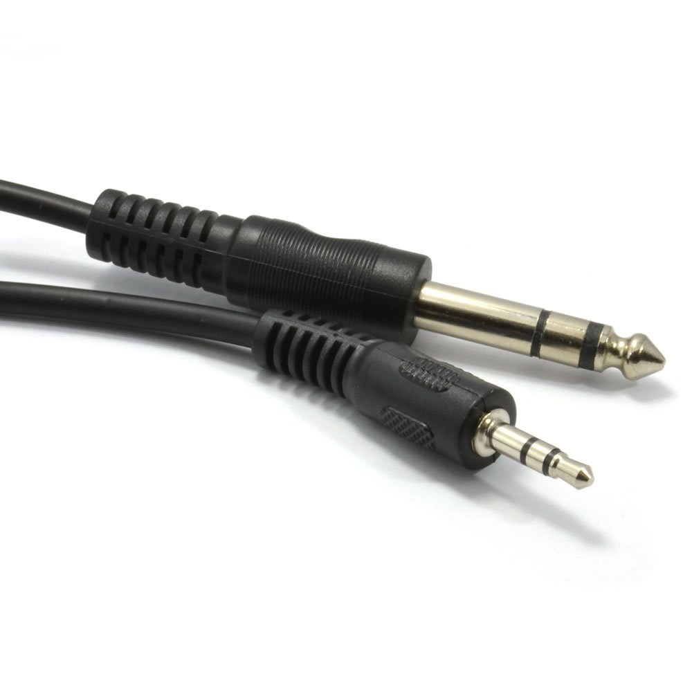 hight resolution of get quotations kenable 3 5mm stereo jack plug to 6 35mm 1 4 inch stereo jack plug