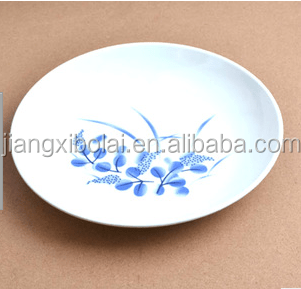 Wholesale Plastic Melamine Printing White Plate
