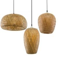 Modern Handmade Rattan Bamboo Pendant Lamp