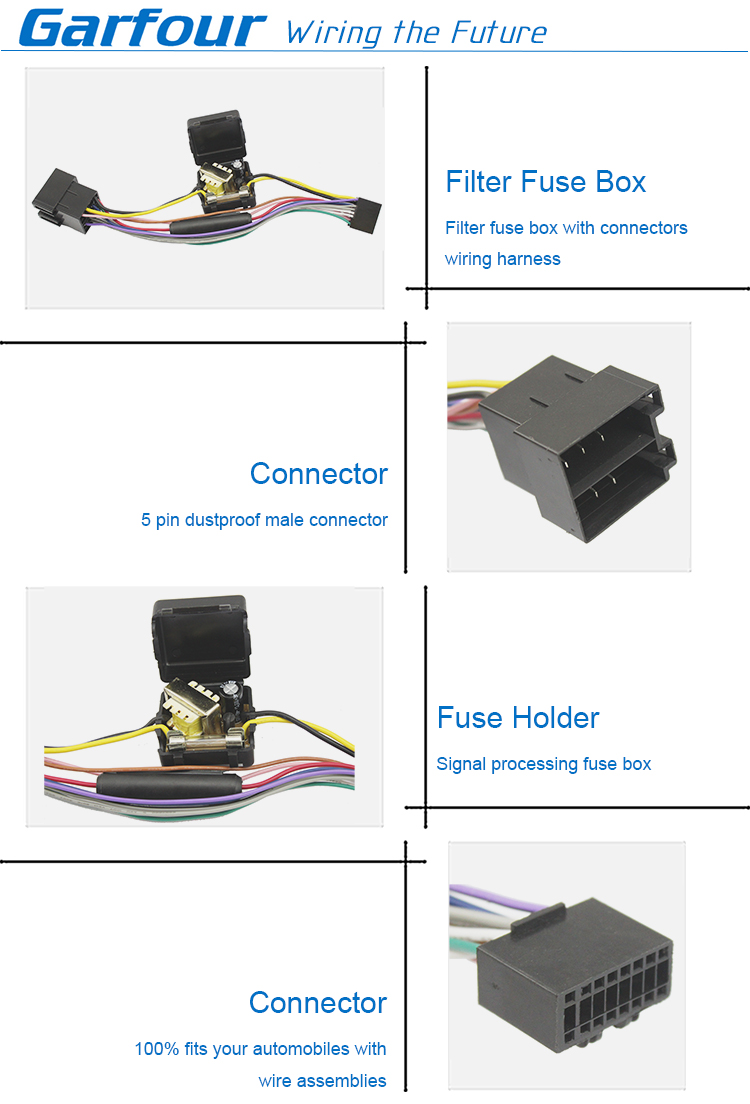 medium resolution of automotive filter fuse box wire harness fuse holder cable assembly car fuses