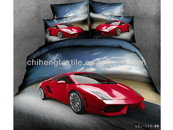 Luxury Lamborghini Sports Car 3d Bedding Set Reactive