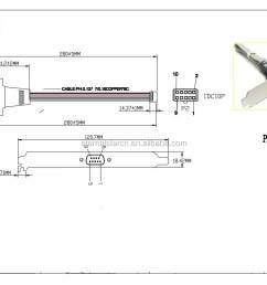 rs232 male db9 pin to 30 pin idc flat ribbon cable [ 1261 x 862 Pixel ]
