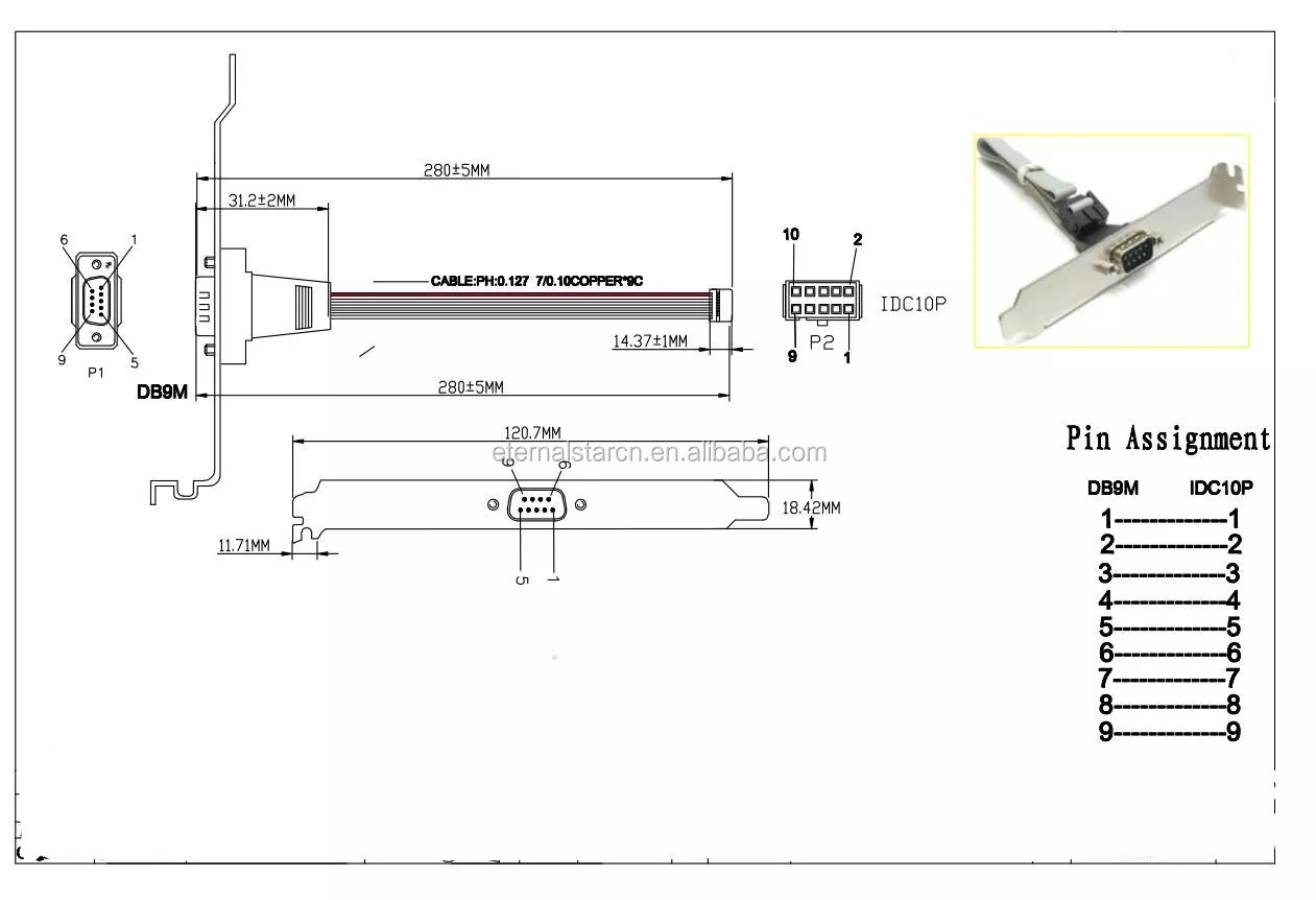 hight resolution of rs232 male db9 pin to 30 pin idc flat ribbon cable