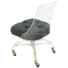 acrylic desk chair with cushion best ergonomic chairs australia clear office wholesale suppliers alibaba
