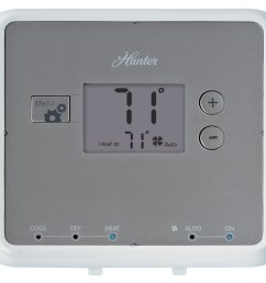 get quotations hunter 42122 5 minute digital non programmable thermostat white [ 1500 x 1358 Pixel ]