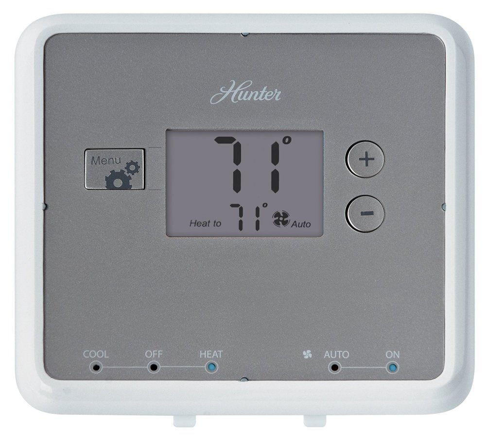 medium resolution of get quotations hunter 42122 5 minute digital non programmable thermostat white