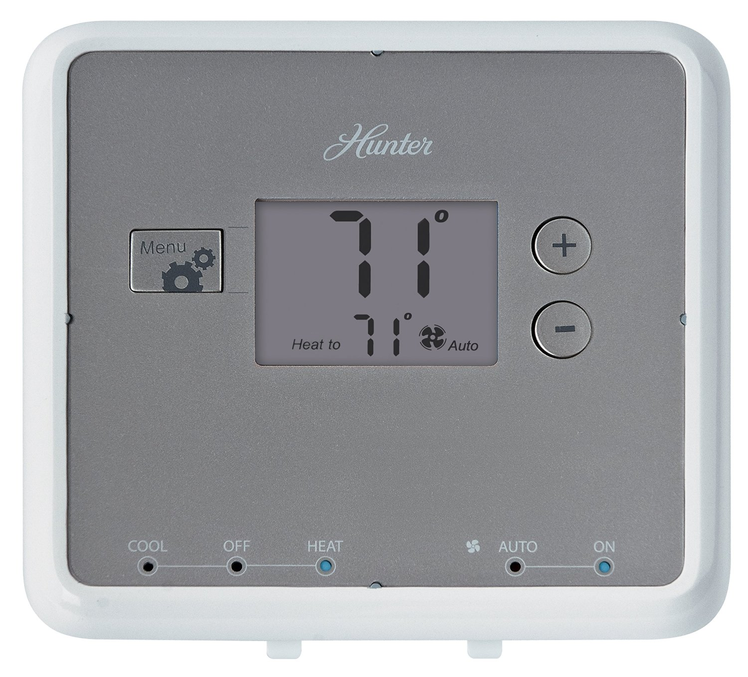 hight resolution of get quotations hunter 42122 5 minute digital non programmable thermostat white
