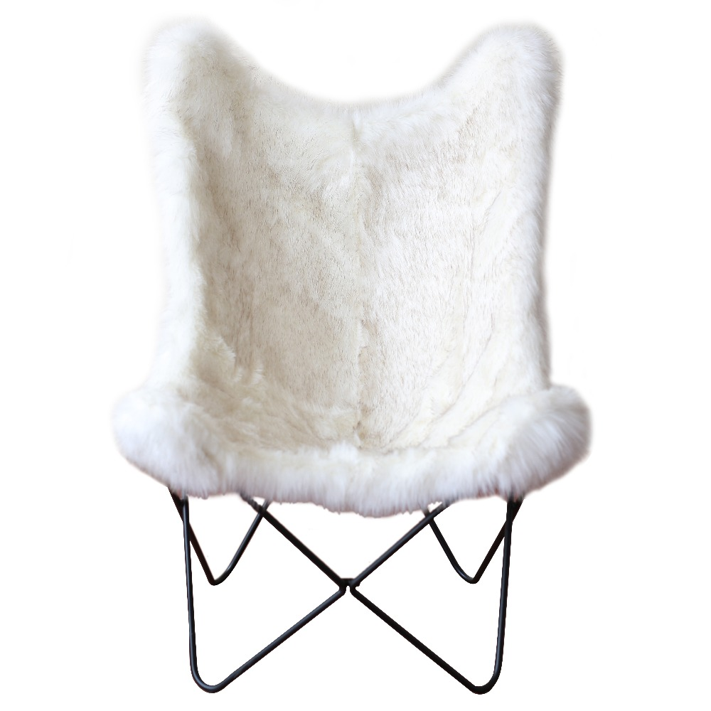 Fur Butterfly Chair With Fake Fur Sitting And Metal Base Original Butterfly Chair Buy Original Butterfly Chair Butterfly Chair Chair Product On Alibaba