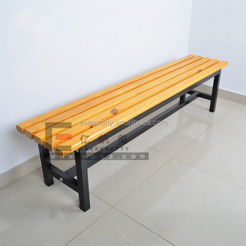 antique wood long bench