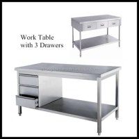 Stainless Steel Kitchen Work Table With Drawers - Buy Work ...