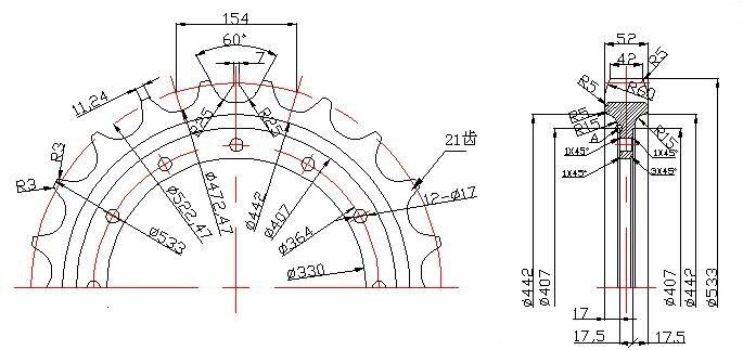 Oem Manufacture Mini Excavator Sprockets Segment Wheel For