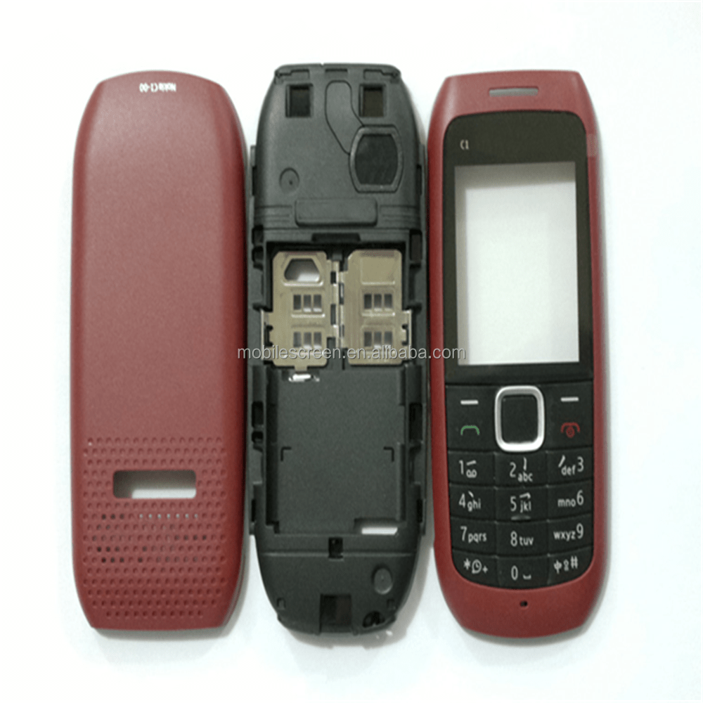 hight resolution of china supplier for nokia c1 00 lcd screen front housing cover