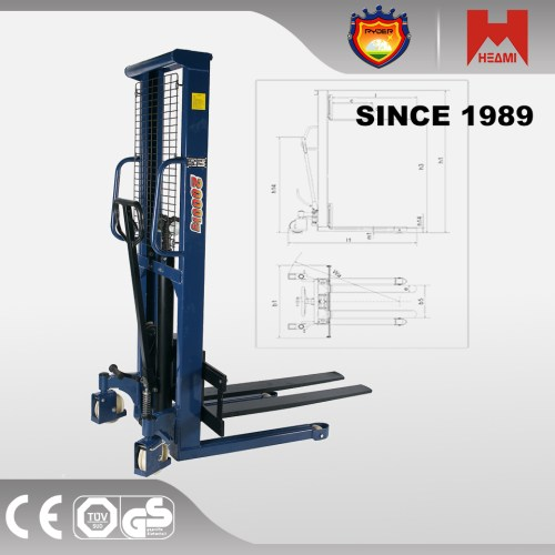 small resolution of hand stacker 1 6m high fork lift manual pallet truck 1 tonne 1000kgs
