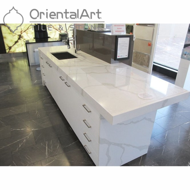 Calacatta Novo Quartz Countertops With